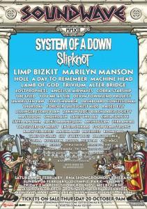 Soundwave Festival poster