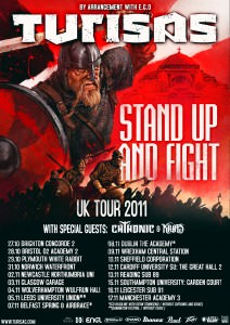 Turisas UK/ IRE tour flyer