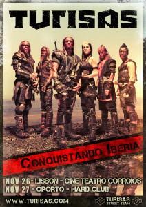 Portugal tour poster, November 2011
