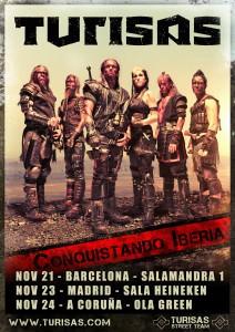 Spain tour poster, November 2011